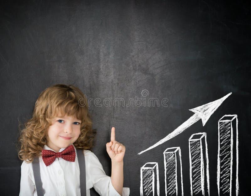 Gráfico de barra do crescimento imagens de stock royalty free