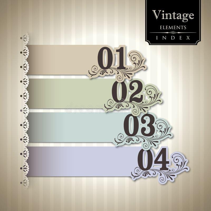 Gráfico de barra do estilo do vintage ilustração do vetor