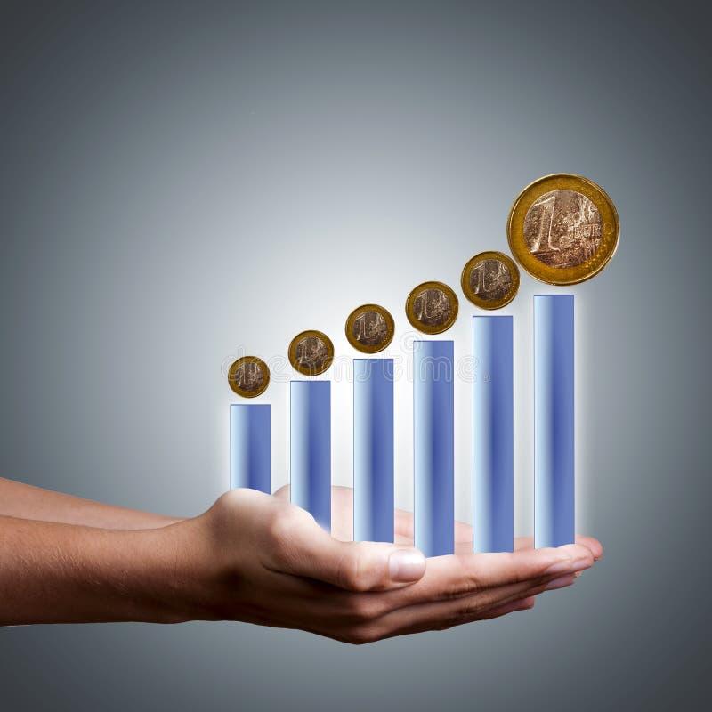 Crescimento econômico ilustração stock