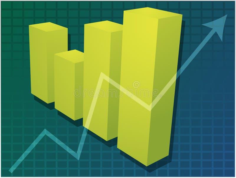 Gráfico de barras financeiro ilustração do vetor