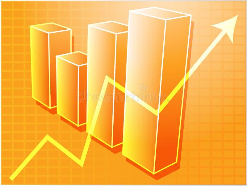 Gráfico de barras financeiro   ilustração royalty free