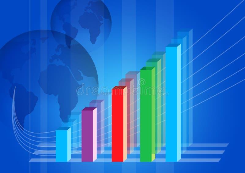 Gráfico de beneficio ilustración del vector