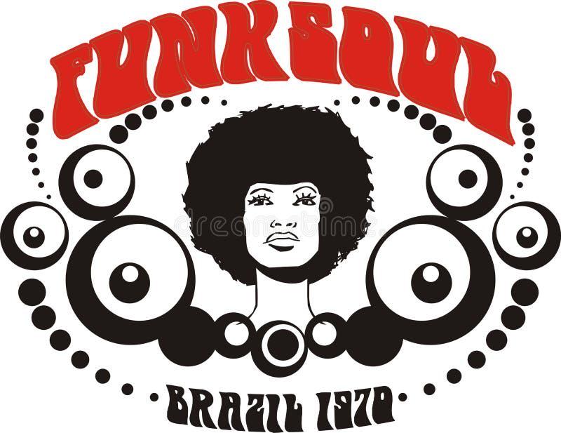Gráfico de Brasil da alma do funk ilustração royalty free