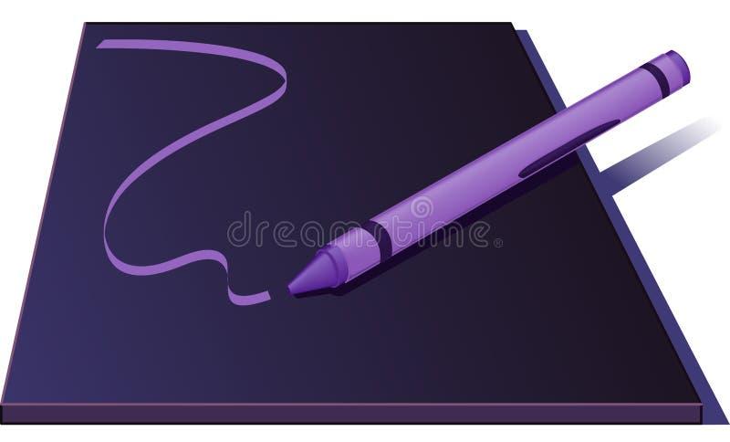 Gráfico de creyón una línea - ilustración del vector libre illustration