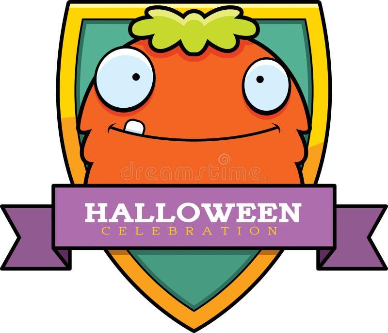 Gráfico de Dia das Bruxas do monstro dos desenhos animados ilustração stock