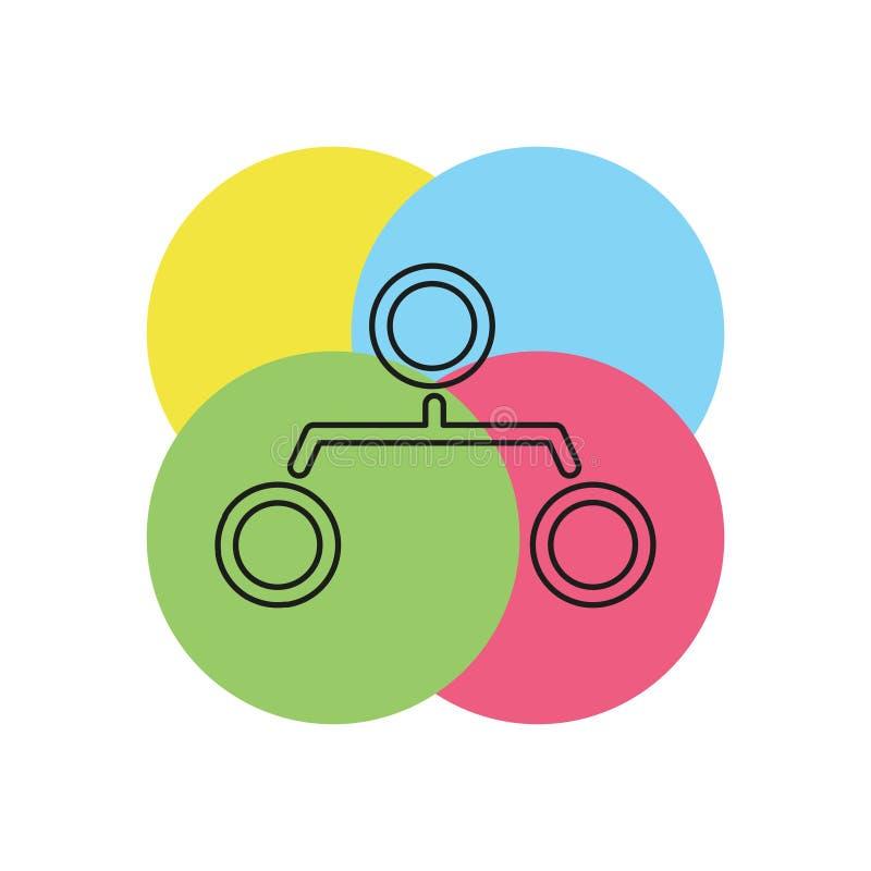 Gráfico de estrutura da hierarquia do ícone do organograma ilustração royalty free