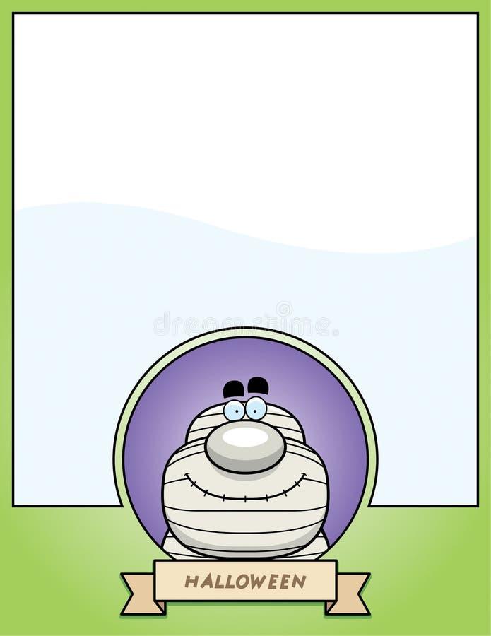 Gráfico de Halloween de la momia de la historieta stock de ilustración
