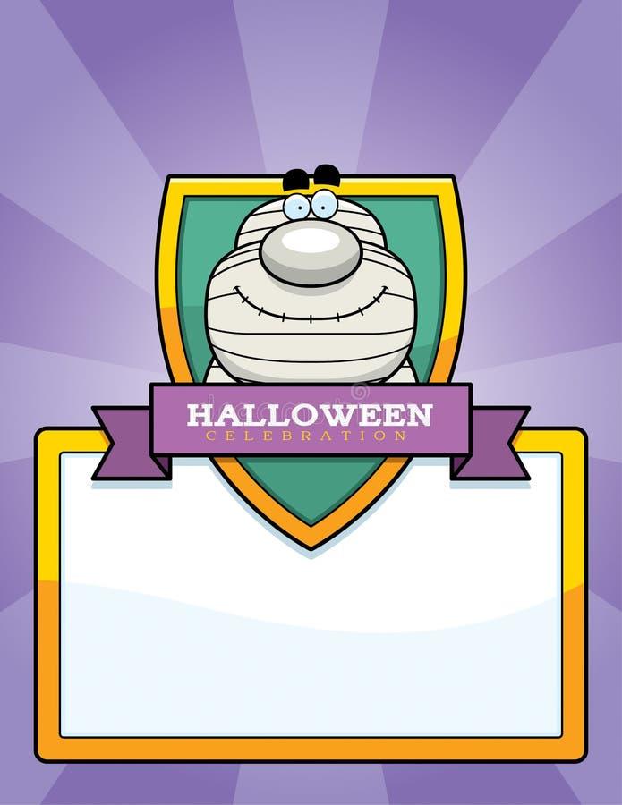 Gráfico de Halloween de la momia de la historieta ilustración del vector