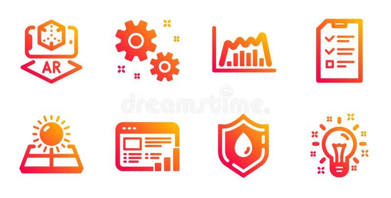 Gráfico de Infographic, doação de sangue e de energia de Sun grupo dos ícones Trabalho, entrevista e sinais aumentados da realida ilustração royalty free