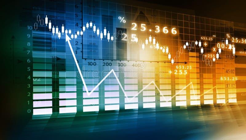 Gráfico de la bolsa stock de ilustración