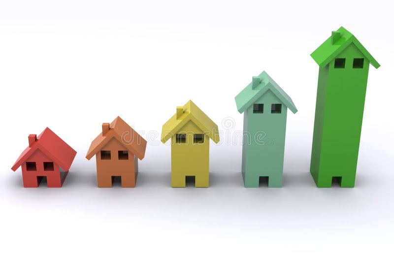 Gráfico de la casa stock de ilustración
