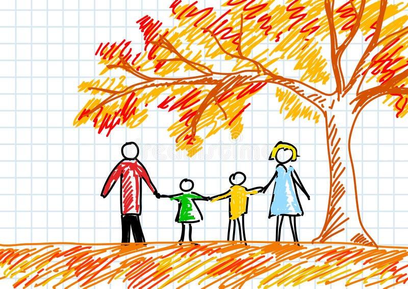 Gráfico de la familia ilustración del vector