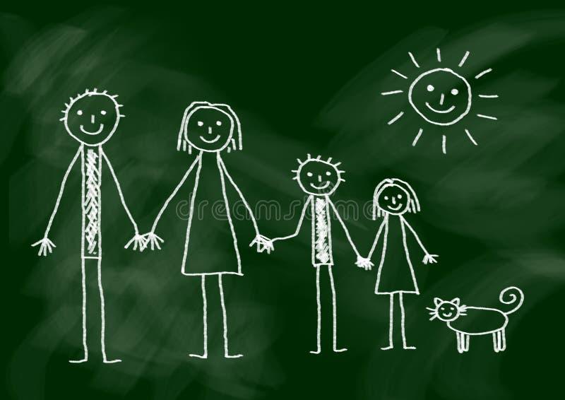 Gráfico de la familia libre illustration