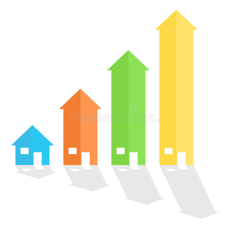 Gráfico de la flecha de la casa ilustración del vector