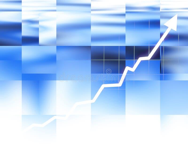 Gráfico de la flecha que sube ilustración del vector