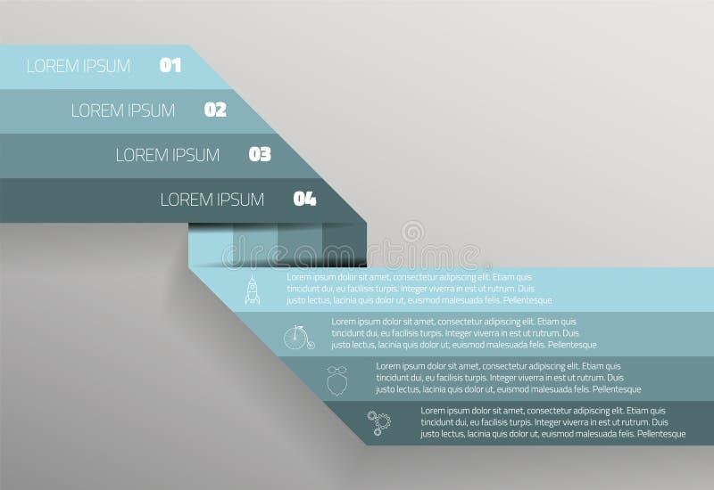 Gráfico de la información ilustración del vector