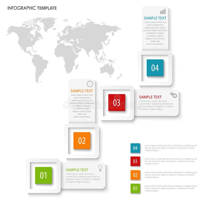 Gráfico de la información con los indicadores del diseño en la plantilla blanca del color libre illustration
