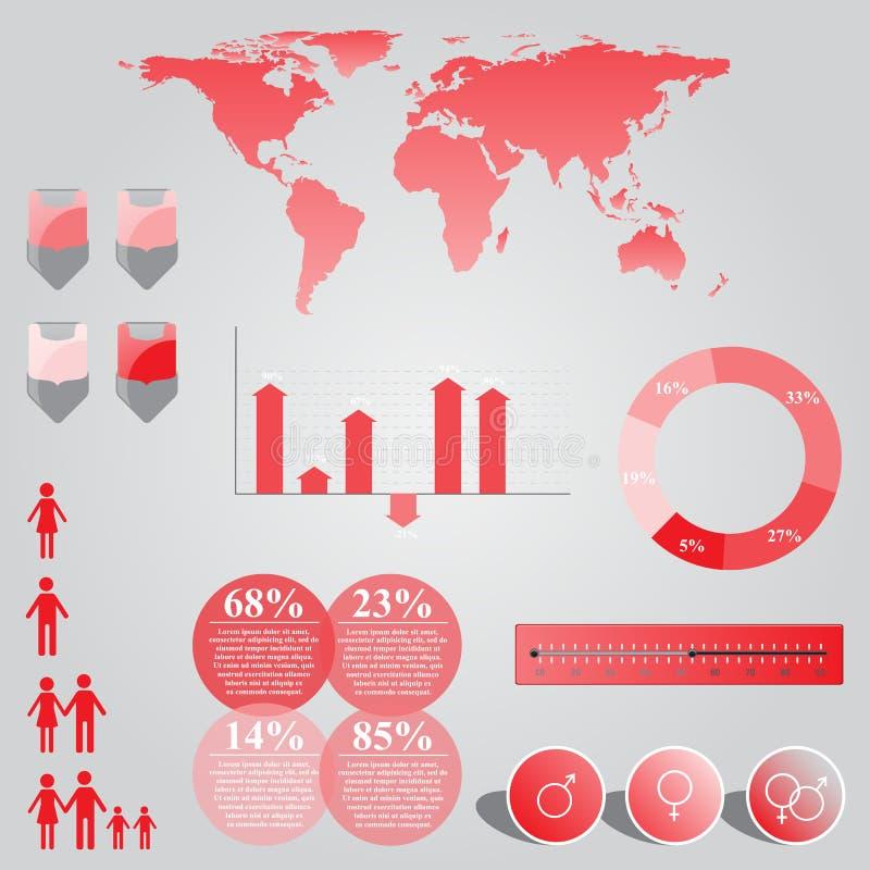 Gráfico de la información de vector ilustración del vector