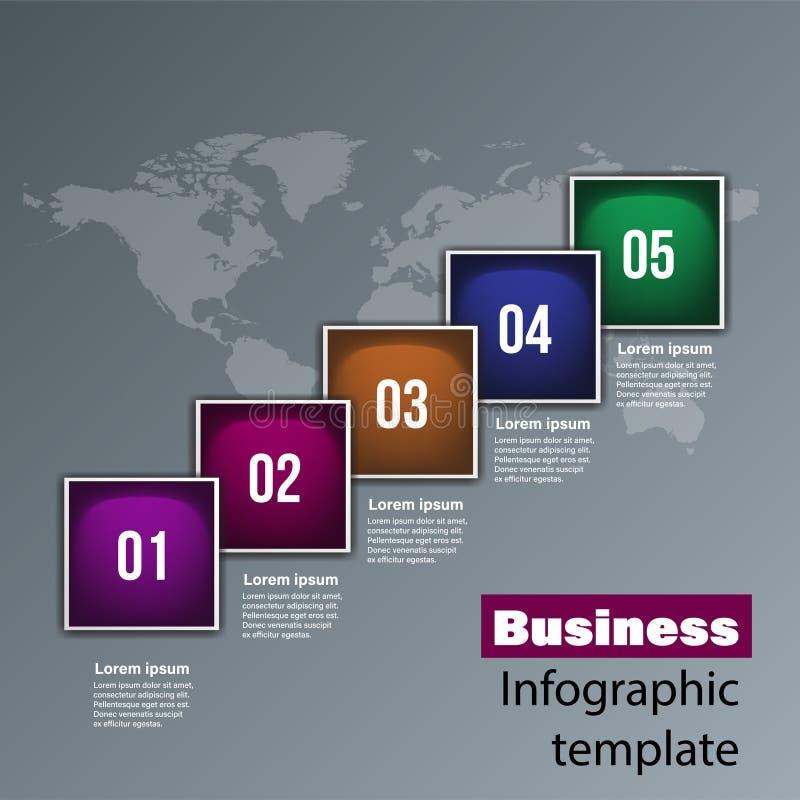 Gráfico de la información para el negocio Puede ser utilizado para el diagrama, informe anual, diseño web stock de ilustración