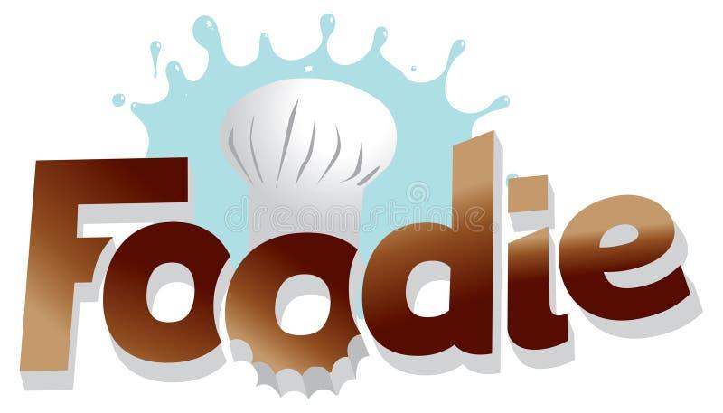 Gráfico de la insignia del cocinero de Foodie ilustración del vector