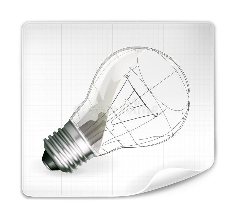 Gráfico de la lámpara ilustración del vector