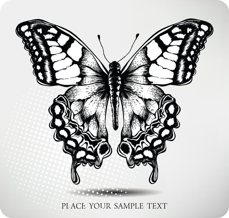 Gráfico de la mano de la mariposa. Vector ilustración del vector