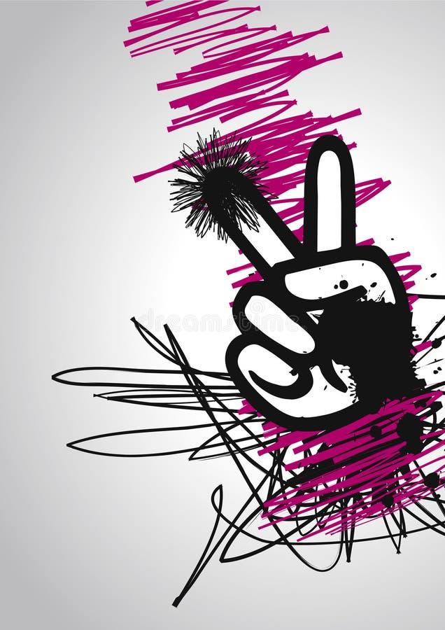 Gráfico de la mano de la paz ilustración del vector