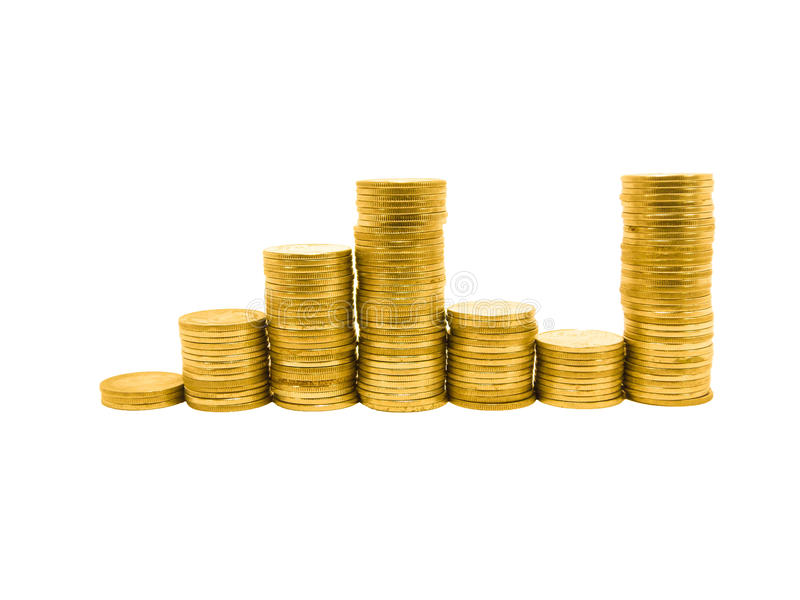 Gráfico de la moneda fotografía de archivo libre de regalías