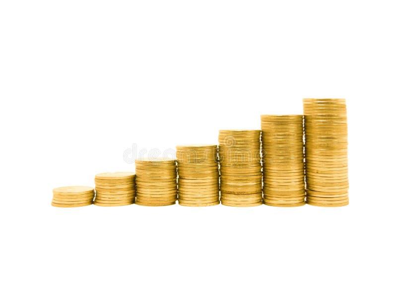 Gráfico de la moneda imágenes de archivo libres de regalías