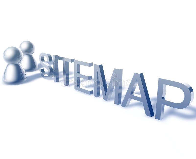 Gráfico de la palabra de Sitemap stock de ilustración