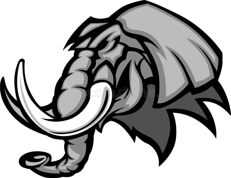 Gráfico de la pista de la mascota del elefante libre illustration