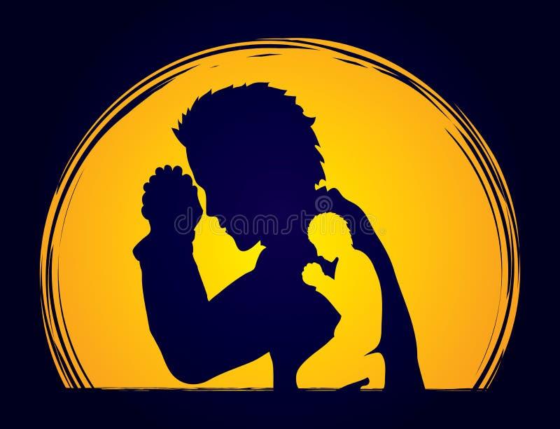 Gráfico de la sombra del rezo del hombre libre illustration