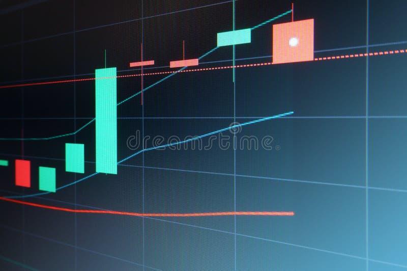 Gráfico de la vela del mercado de acción foto de archivo