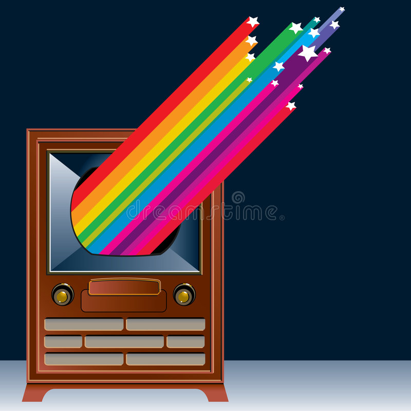 Gráfico de la vendimia TV libre illustration