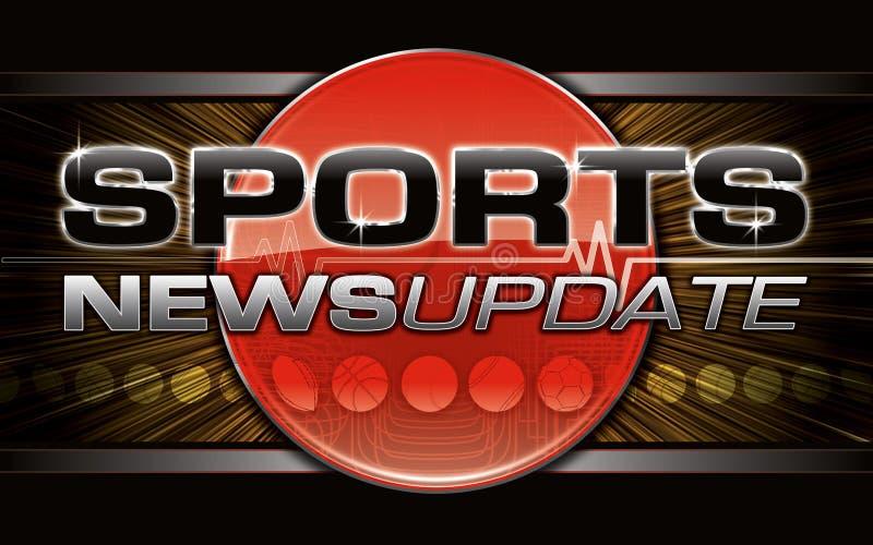 Gráfico de las noticias de los deportes ilustración del vector