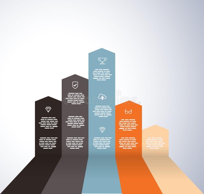 Gráfico de levantamiento con los iconos ilustración del vector