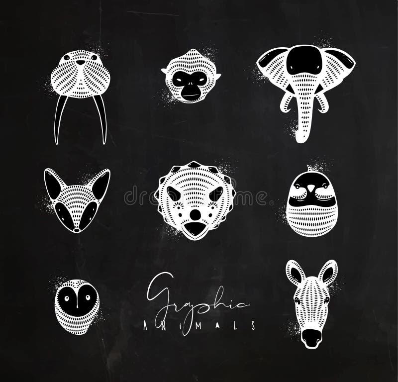 Gráfico de los animales auténtico libre illustration