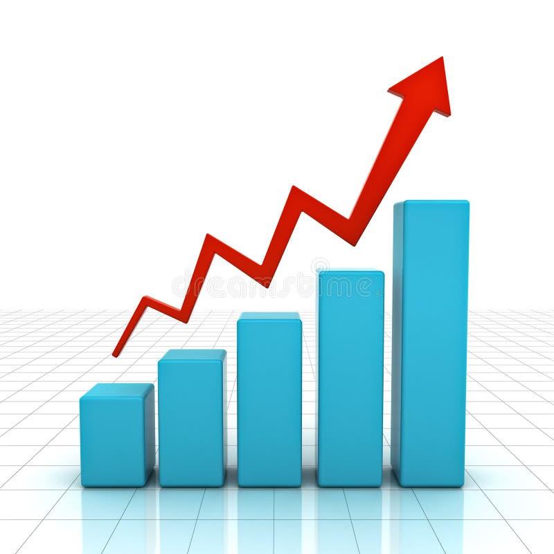 Download Gráfico de negócio 3d ilustração stock. Ilustração de cresça - 26504971