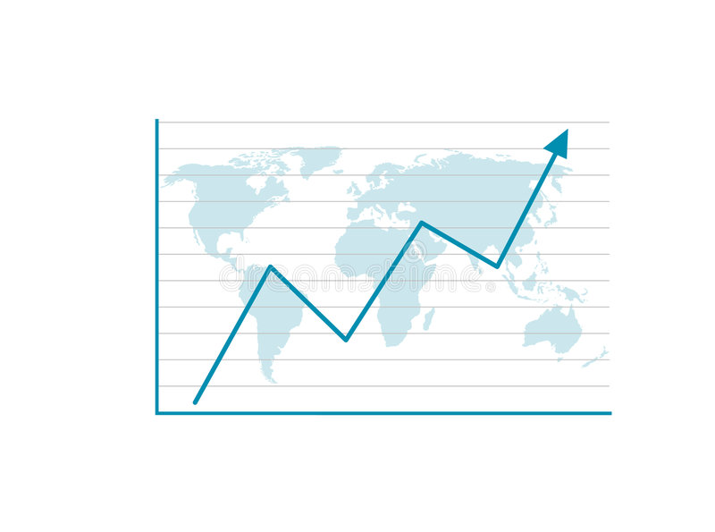 Gráfico de negócio   ilustração do vetor