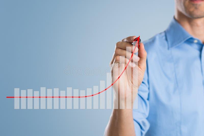 Gráfico de negócio crescente fotos de stock royalty free