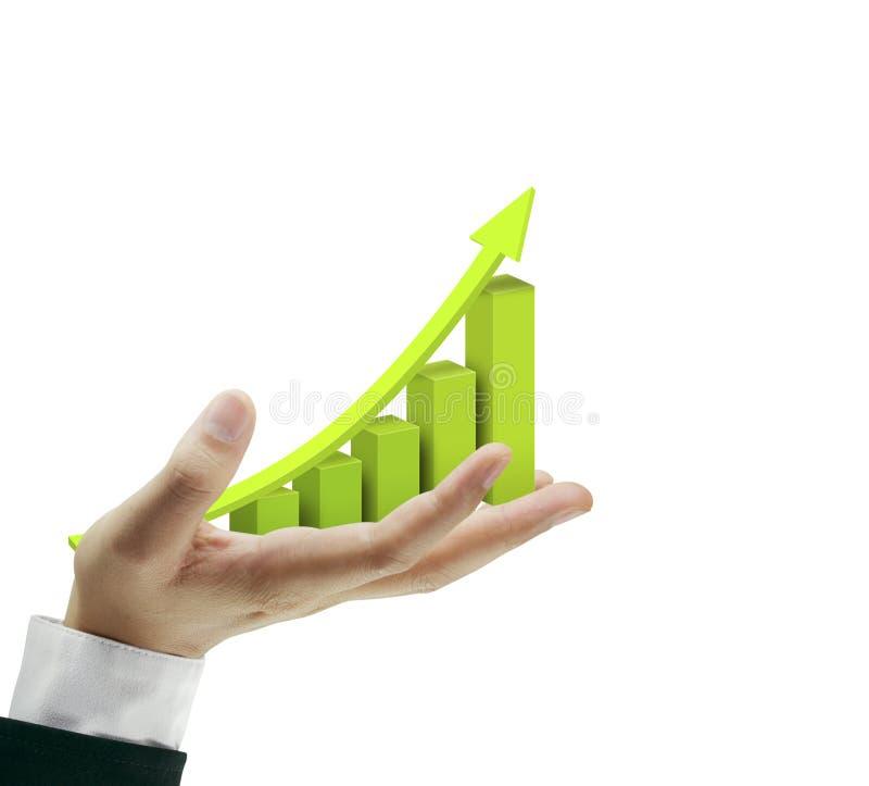 Gráfico de negócio da mão fotos de stock