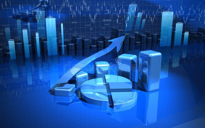 Gráfico de negócio, diagrama, carta ilustração stock
