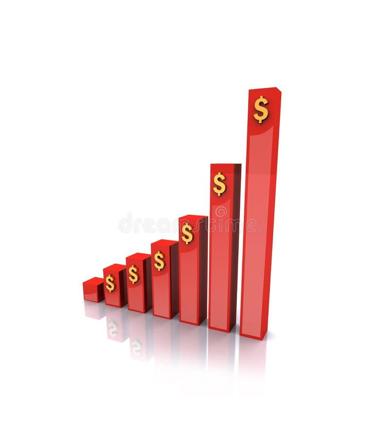 Download Gráfico de negócio em 3d ilustração stock. Ilustração de crescimento - 12803650