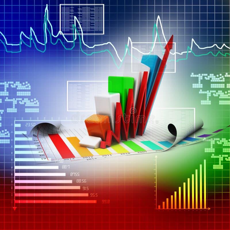 Gráfico de negócio que vai acima ilustração stock
