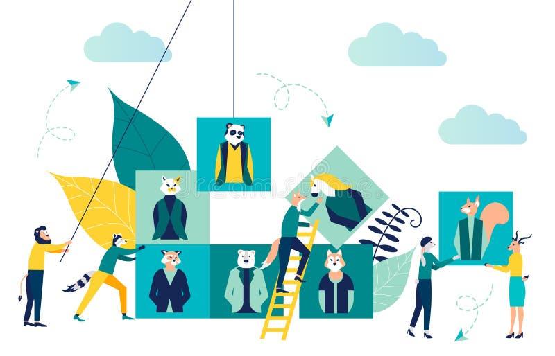 Gráfico de negócio, vaga aberta, empresa de negócio ilustração royalty free