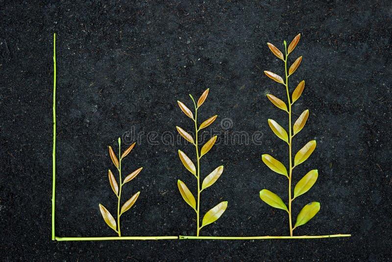 Gráfico de negócio verde foto de stock royalty free