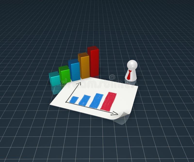 Gráfico de negocio libre illustration