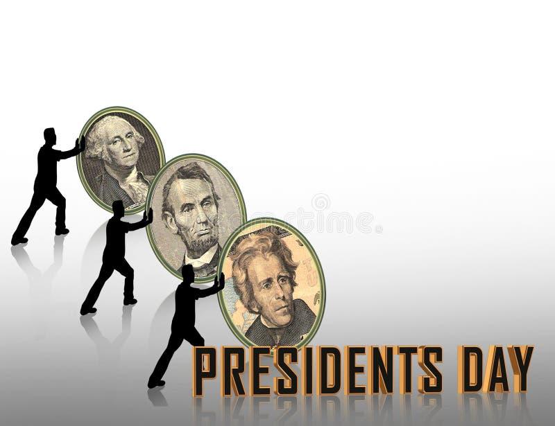 Gráfico de presidentes Day stock de ilustración