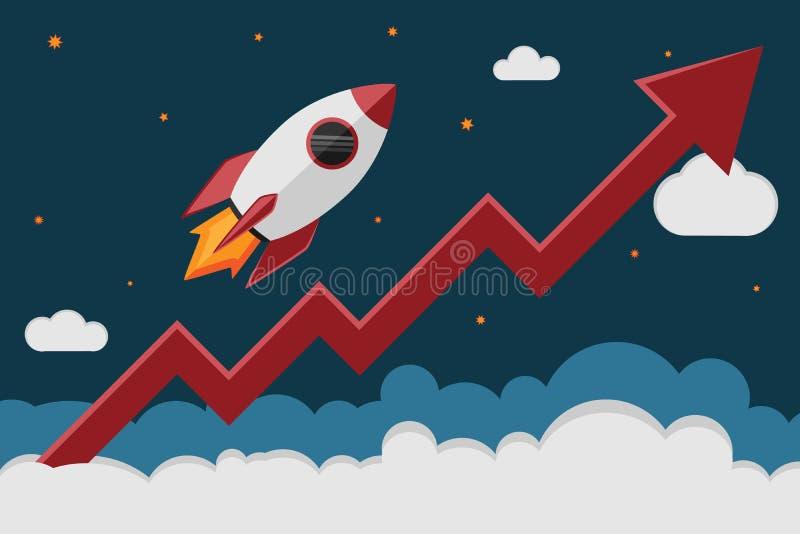 Gráfico de Rocket ilustração royalty free