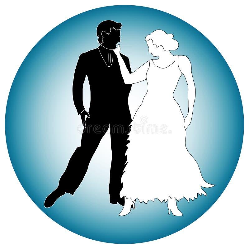 Gráfico de sócios da dança ilustração royalty free